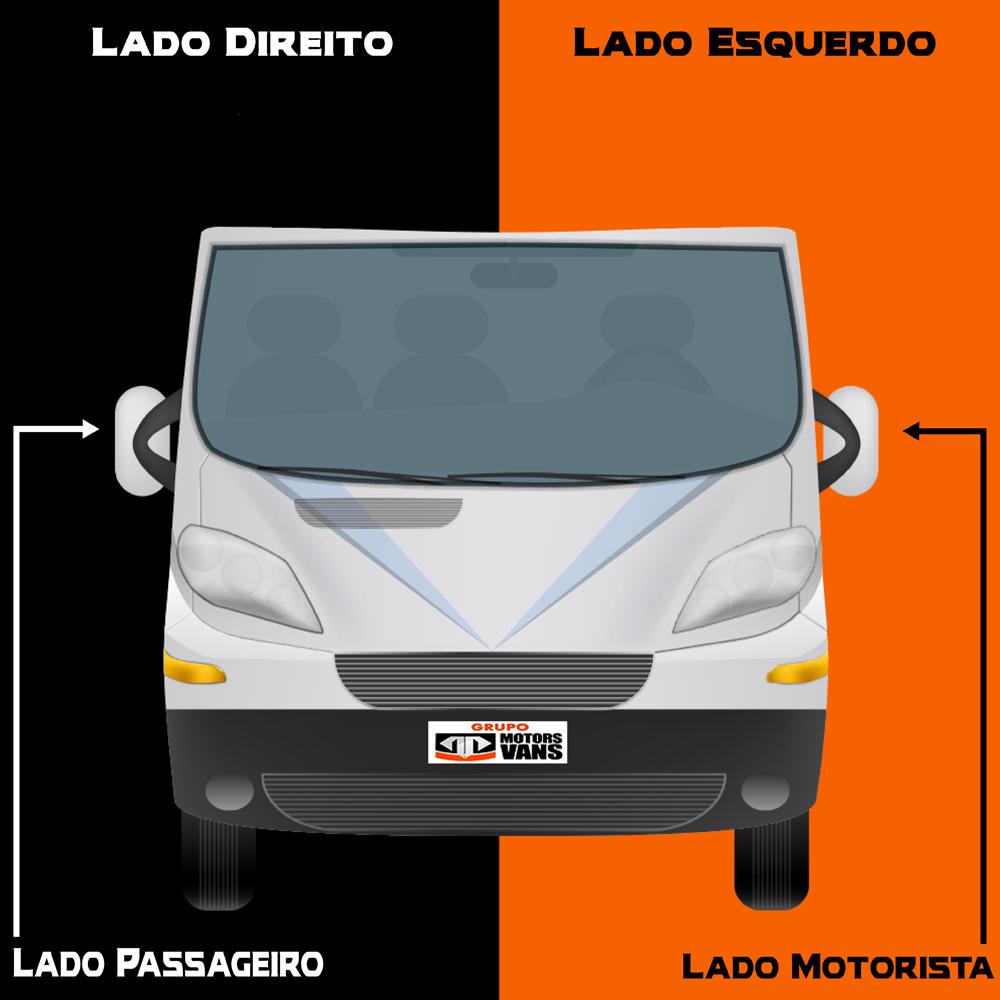 RETROVISOR MANUAL LADO ESQUERDO FIAT DUCATO PEUGEOT BOXER CITROEN JUMPER 2003 2004 2005 2006 2007 2008 2009 2010 2011 2012 2013 2014 2015 2016 2017