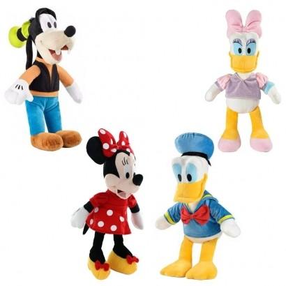 4 Bonecos de Pelúcia Infantil Disney - Margarida, Donald, Pateta, Minnie Multikids