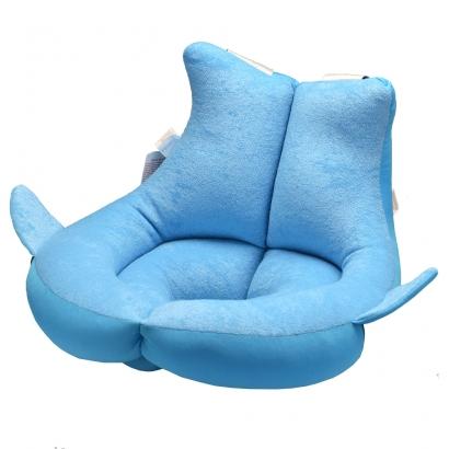 Almofada de Banho Bebê Ergonomica Com Travas de Segurança Fofinha Kababy Azul