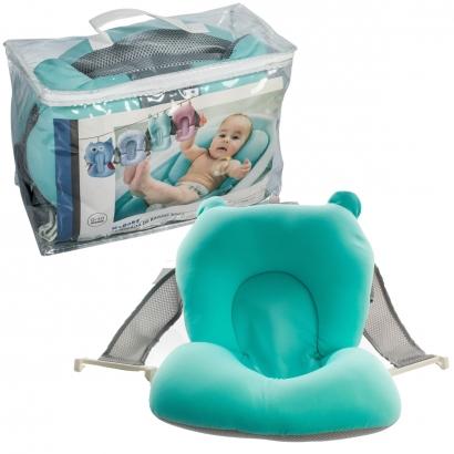 Almofada de Banho para Bebê De 0 a 10 Meses Azul Soft - Kababy