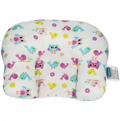 Almofada de Bebê Cabeça Suporte Protetor Infantil Macio Kababy Coruja