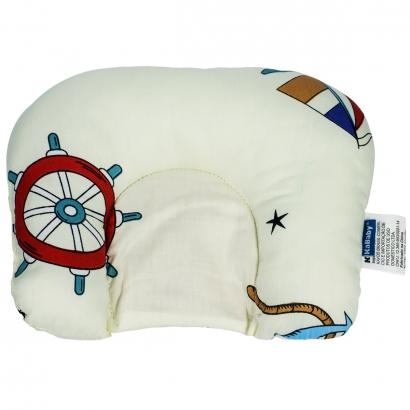 Almofada de Bebê Cabeça Suporte Protetor Infantil Macio Kababy Naval