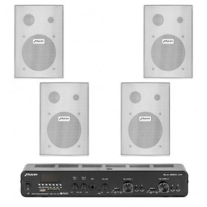 Amplificador Receiver Slim 2500 APP G2 + 4 PS200 NEW Branca
