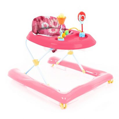 Andador de bebê Até 12 Kg Baby Step Rosa Voyage