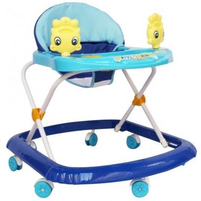 Andador Infantil Com Som Azul Até 15 Kg - Importway