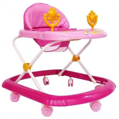 Andador Infantil Com Som Rosa Até 15 Kg - Importway
