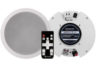 Kit Arandela Bluetooth 6'' Frahm Redonda Branca 100 WRMS