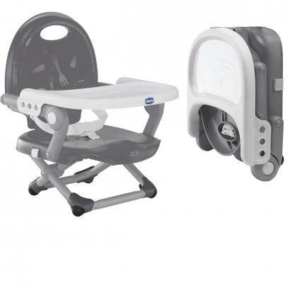 Assento Elevatório Bebê Cadeira de Refeição Alimentacão 6-36 Meses Até 15 Kg Pocket Snack Chicco Cinza