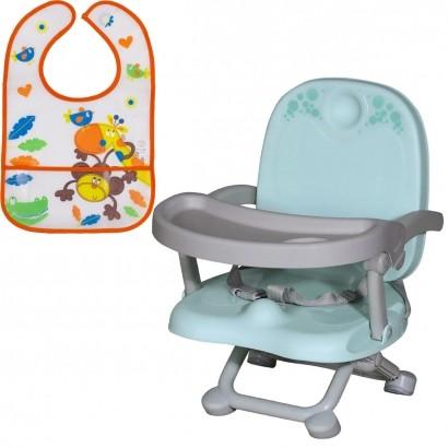 Assento Elevatório Refeição Infantil VIC Até 15 Kg + Babador Infantil