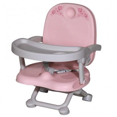 Assento Elevatório Infantil Para Refeição Vic Super Compacto De 6 até 15Kg Galzerano Rose