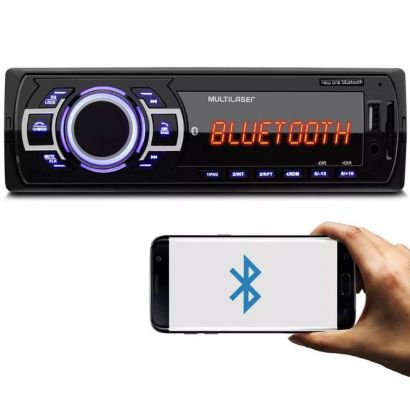 Som Automotivo New One Bluetooth FM USB P2 e SD Multilaser P3319
