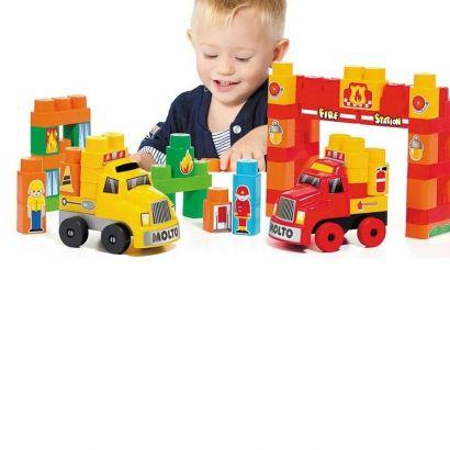 Baby Land Caminhões Super Resgate Molto Blocks 60 Peças