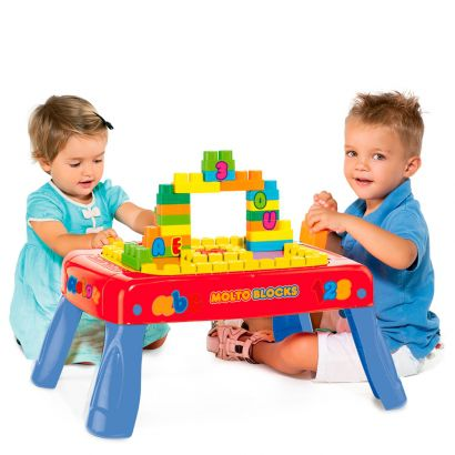 Baby Land Mesinha Centro de Criativa Molto Blocks 20 Peças