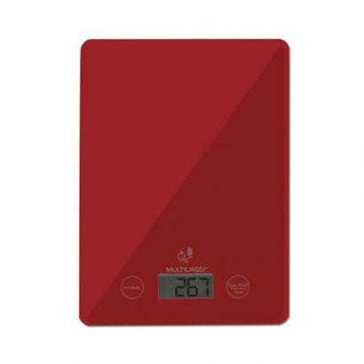 Balança de Cozinha 5 Kg Vermelha - Multilaser
