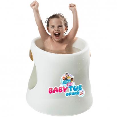 Banheira Infantil Ergonômica BabyTub Ofurô Branca Mundo de Bita De 1 até 6 Anos