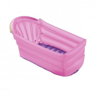 Banheira Inflavel Para Bebe Pratica Compacta Dias Quentes Rosa MultiKids