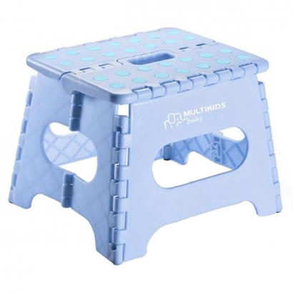 Banquinho Infantil Degrau Multiuso Dobravel Flop Multikids Azul