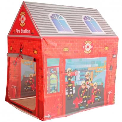 Barraca Casinha Infantil Estação de Bombeiro Com Porta Brinquedo Criança Importway