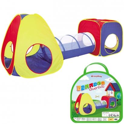 Barraca Infantil Divertida com Túnel 3 em 1 Para Crianças +3 Anos - Importway