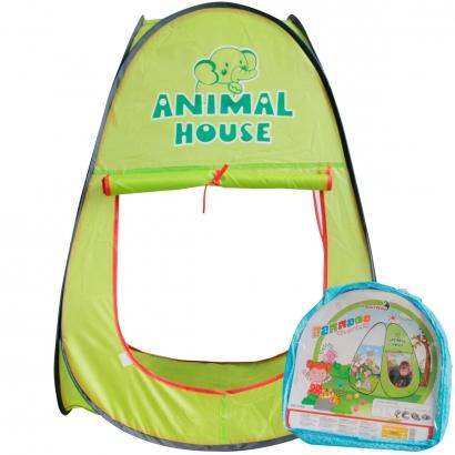 Barraca Infantil Divertida Verde 92x66cm Para Crianças com +3 Anos - Importway