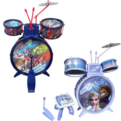 Bateria Musical Infantil Criança A partir dos 4 Anos Com Banquinho Toyng