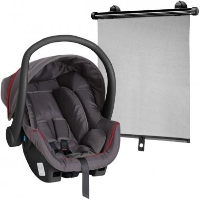 Bebê Conforto Cadeirinha Galzerano Cocoon 0-13 Kg Grafite e Vermelho 8181GRV + Protetor Solar