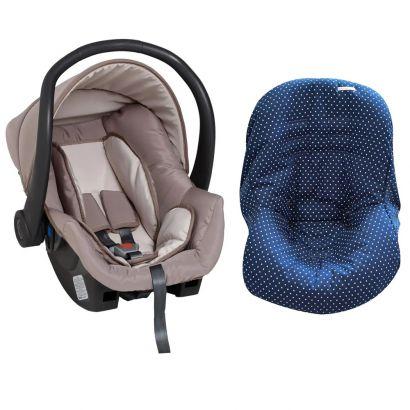 Bebê Conforto Cappuccino + Capa Para Bebê Conforto Estrela Marinho