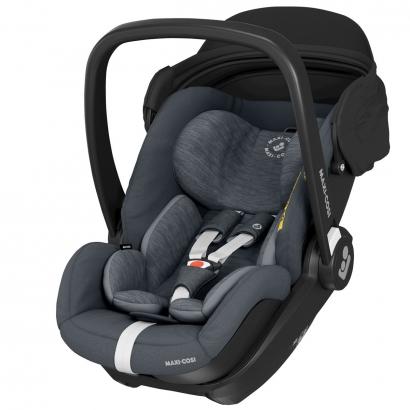 Bebê Conforto Com Base Ambos Isofix Recém Nascido até 13 Kg Reclinavel Marble Maxi Cosi Essential Graphite