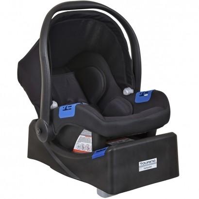 Bebê Conforto Infantil Touring X Preto Até 13kg + Base Touring Preta Burigotto