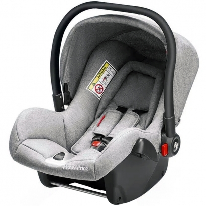 Bebê Conforto para Auto Cadeirinha Heritage Fix De 0 a 13kg Cinza Fisher-Price