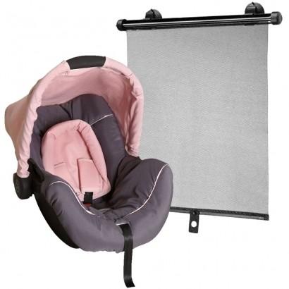 Bebê Conforto Piccolina Grafite Rosa Galzerano + Protetor Solar Retrátil