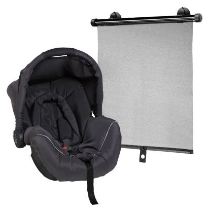 Bebê Conforto Piccolina Preto Galzerano + Protetor Solar Retrátil