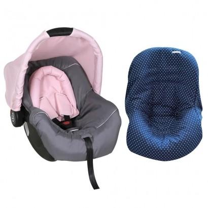 Bebê Conforto Preto/Grafite/Rosa + Capa Para Bebê Conforto Estrela Marinho