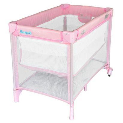 Berço Para Bebê New Mini Pink Burigotto