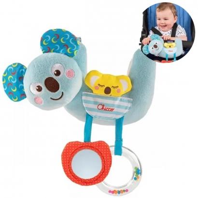 Bichinho de Pelucia Fixa Carrinho Bebê Conforto Berço Com Acessórios 6 A 36 Meses Familia Coala Chicco