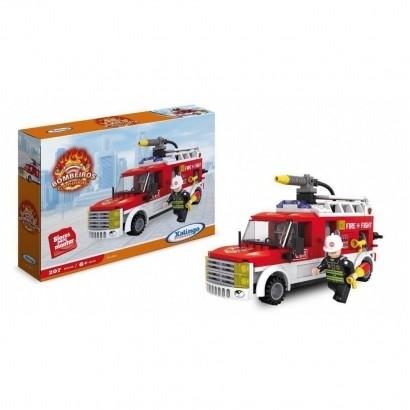 Blocos de Montar Bombeiros Caminhão 207 peças 02598