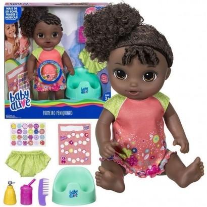 Boneca Baby Alive Primeiro Peniquinho Negra E0304