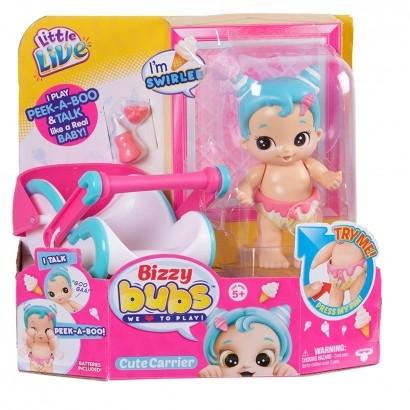 Boneca Bizzy Bubs Playset Bercinho ou Cestinha Dtc
