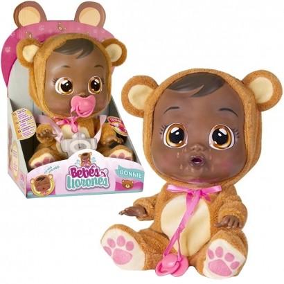 Boneca Cry Babies Bonnie Negra Que Chora de Verdade Para Bebe - Multikids