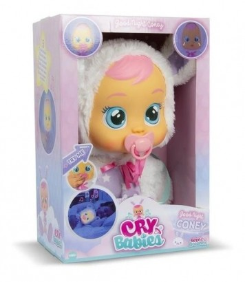Boneca Cry Babies Coney Good Night Que Chora de Verdade Para Bebe - Multikids