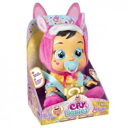 Boneca Cry Babies Lena Que Chora de Verdade Para Bebe - Multikids
