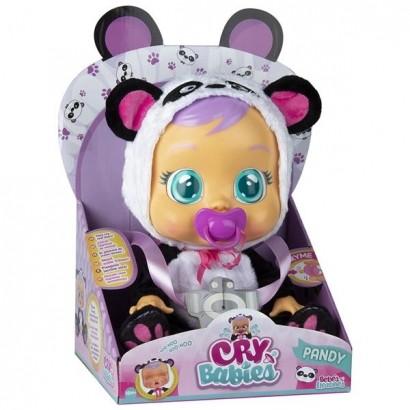 Boneca Cry Babies Pandy Que Chora de Verdade Para Bebe - Multikids