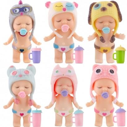 Boneca Doce Bebe Faz Xixi de Verdade c/3 Acessórios Indicado +3 Anos - Polibrinq