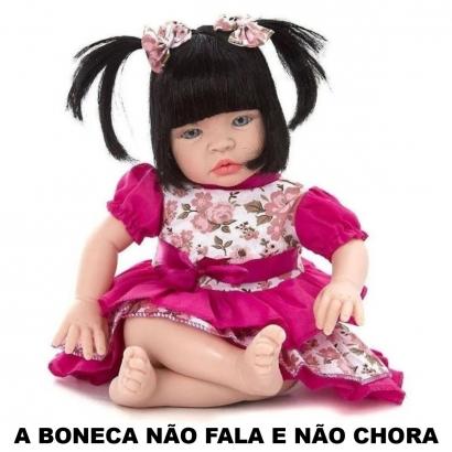 Boneca Infantil Baby Kiss Morena Um Bebe de Verdade Sid-Nyl