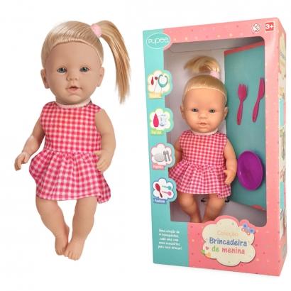 Boneca Infantil Crianças A partir dos 3 Anos Com Acessórios Papinha Quero ser Mamãe Pupee