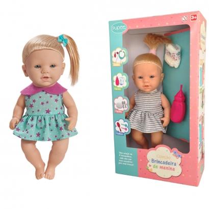 Boneca Infantil Crianças A partir dos 3 Anos Com Acessórios Quero ser Mamãe Pupee