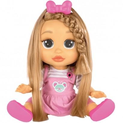 Boneca Infantil Interativa Fala + de 25 Frases Baby Wow Mia Meu Cabelo Cresce De Verdade A Partir de 4 Anos - Multikids