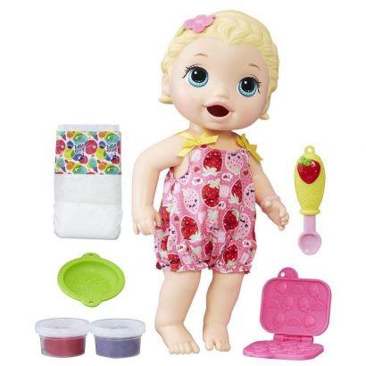 Boneca Loira Baby Alive Lanchinhos Divertidos Hasbro C2697
