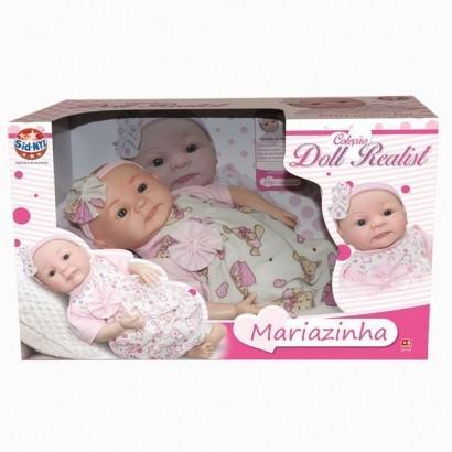 Boneca Mariazinha Coleção Doll Realist Tipo Reborn Sid-nyl 1170