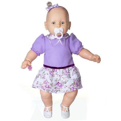 Boneca Meu Bebe Veste Lilas Com Pingente de Pulseira - Estrela